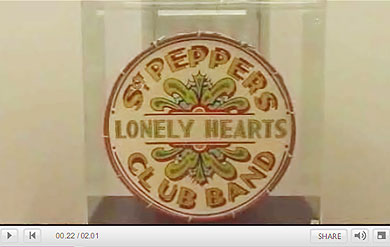 BBC News feature about Beatles drum skin auction
