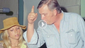Nancy Sinatra and Billy Strange in the recording studio
