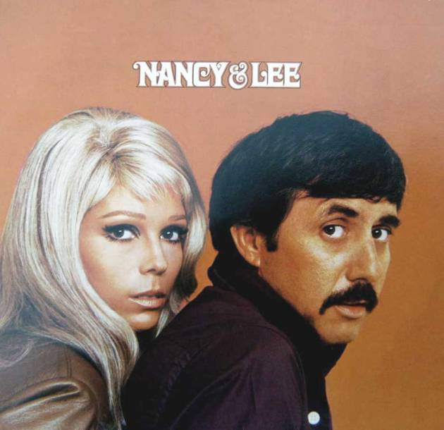 "Nancy Sinatra and Lee Hazlewood on cover of Reprise LP ""Nancy & Lee"" (1968)"