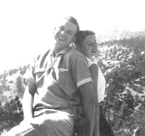 Billy Strange and Jeanne Black on Mt Baldy, California on July 15, 1956. (Photo: courtesy of Billy Strange)